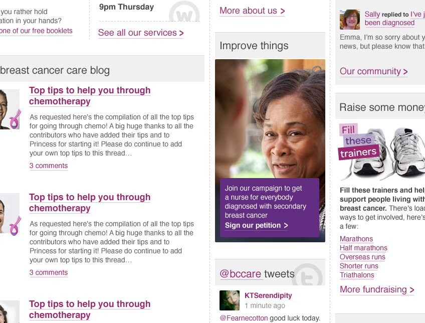 Breast Cancer Care Screenshot 2